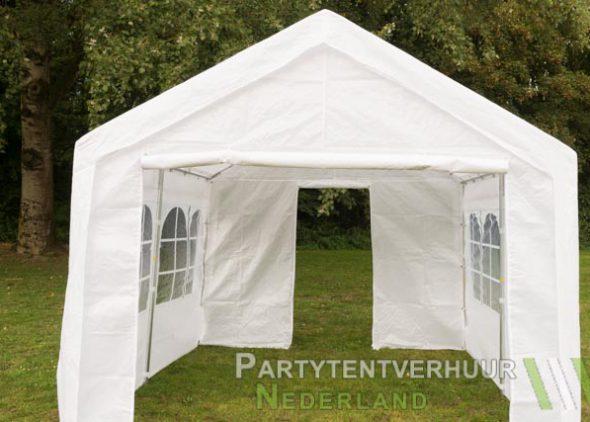 Partytent 3x3 meter voorkant met deur huren - Partytentverhuur Nederland