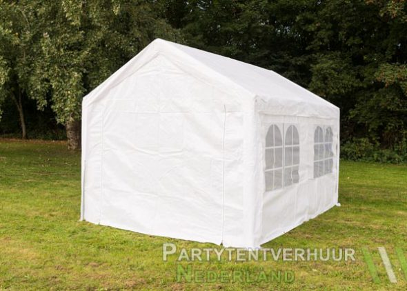 Partytent 3x4 meter achterkant huren - Partytentverhuur Nederland