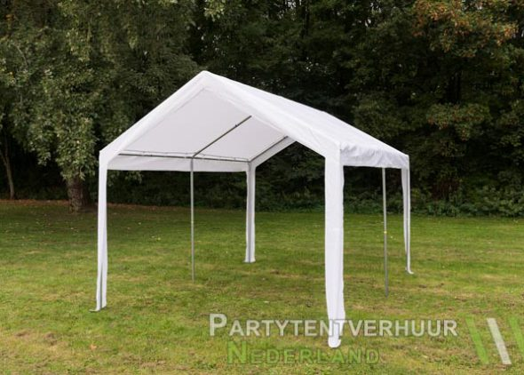 Partytent 3x4 meter schuin voorkant huren - Partytent Nederland