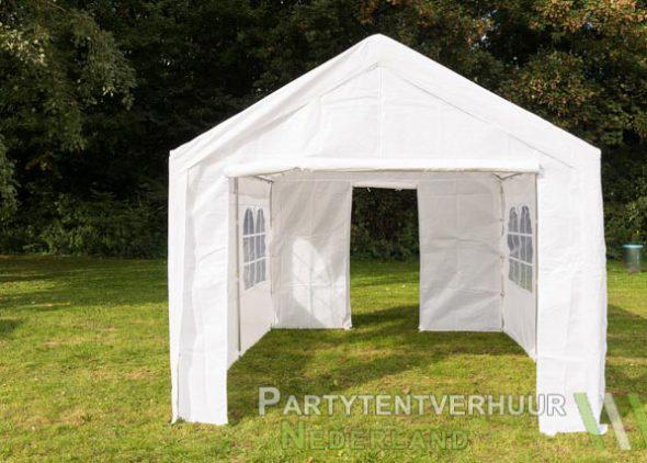 Partytent 3x4 meter voorkant met deur huren - Partytentverhuur Nederland