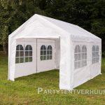 Partytent 3x4 meter zijkant huren - Partytentverhuur Nederland