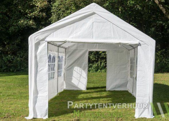 Partytent 3x6 meter voorkant met deur huren - Partytentverhuur Nederland