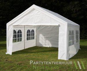 Partytent 4x4 meter voorkant schuin huren - Partytentverhuur Nederland