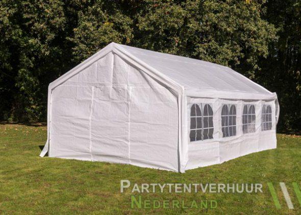 Partytent 4x8 meter achterkant huren - Partytentverhuur Nederland