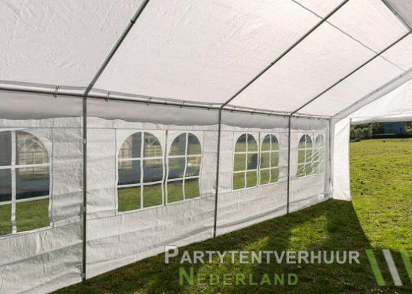 Partytent 4x8 meter binnenkant schuin huren - Partytentverhuur Nederland