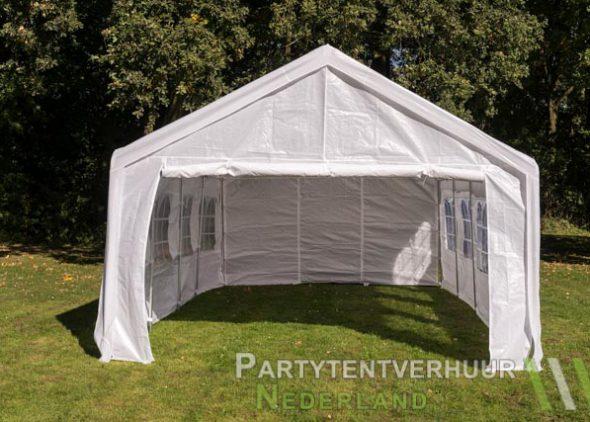 Partytent 4x8 meter voorkant huren - Partytentverhuur Nederland