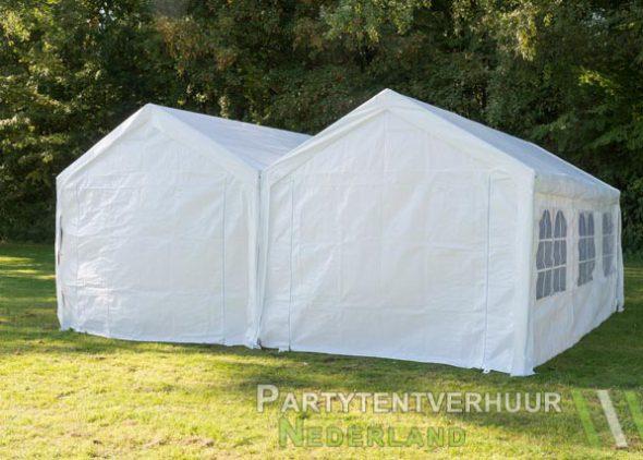 Partytent 6x6 meter achterkant huren - Partytentverhuur Nederland