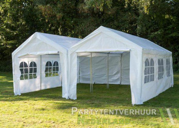 Partytent 6x6 meter voorkant huren - Partytentverhuur Nederland