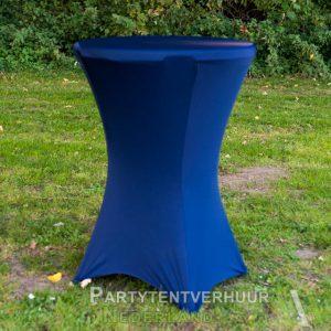 Statafel met rok donkerblauw huren - Partytentverhuur Nederland