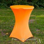 Statafel met rok oranje huren - Partytentverhuur Nederland