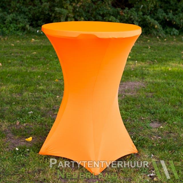 d284eb725a568e Statafel met rok oranje huren - Partytentverhuur Nederland
