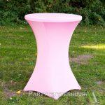 Statafel met rok roze huren - Partytentverhuur Nederland