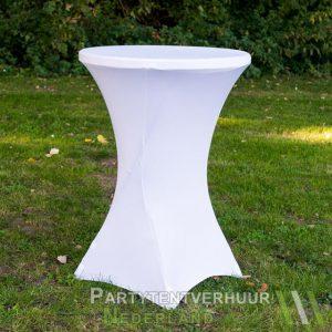 Statafel met rok wit huren - Partytentverhuur Nederland