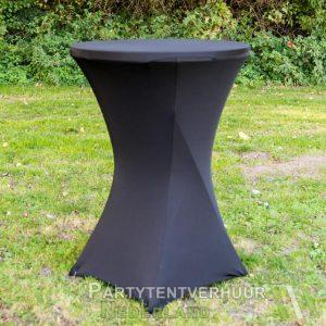 Statafel met rok zwart huren - Partytentverhuur Nederland