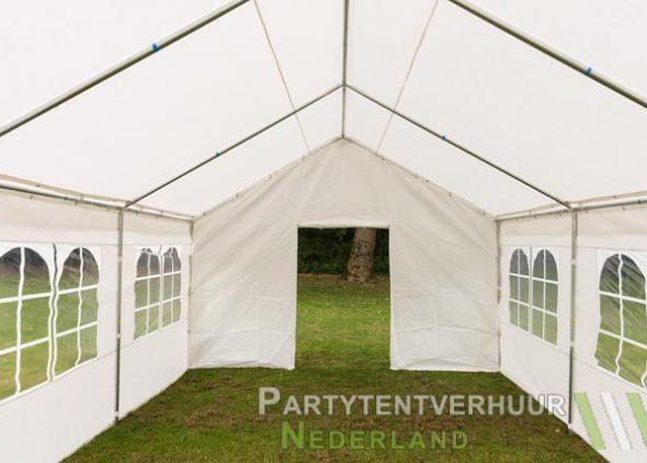 Partytent 4x6 meter voorkant met deur huren - Partytentverhuur Nederland