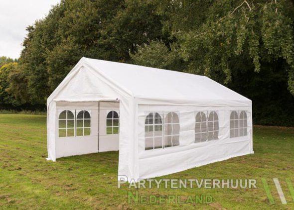 Partytent 4x6 meter zijkant huren - Partytentverhuur Nederland