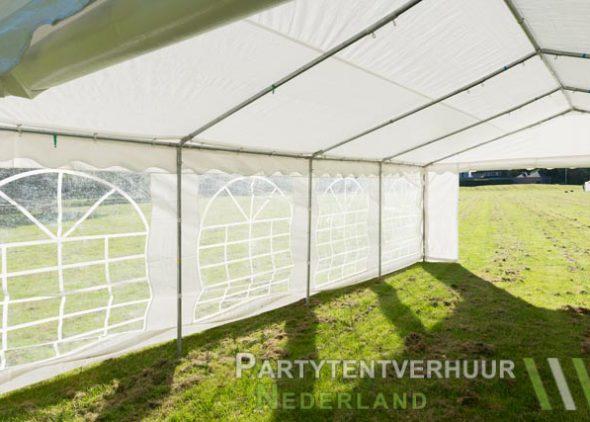 Partytent 5x8 meter binnenkant schuin huren - Partytentverhuur Nederland