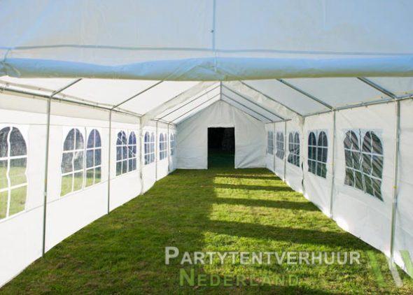 Partytent 6x12 meter binnenkant met deur huren - Partytentverhuur Nederland