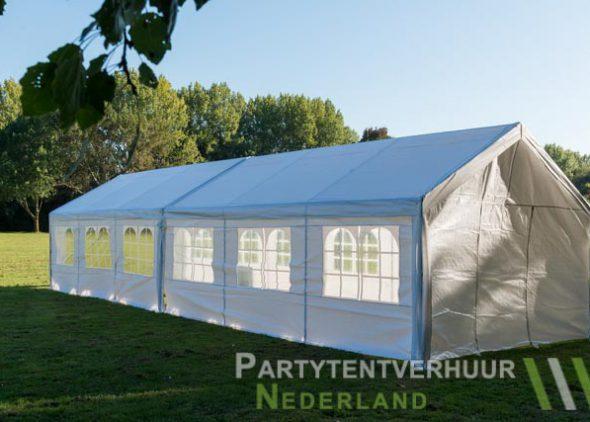 Partytent 6x12 meter zijkant links huren - Partytentverhuur Nederland