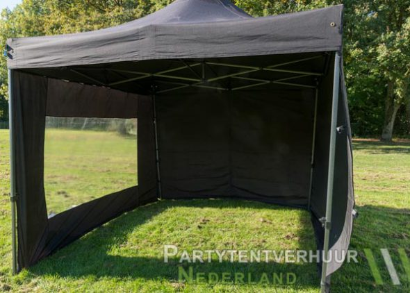 Easy up tent 3x3 meter voorkant huren - Partytentverhuur Nederland