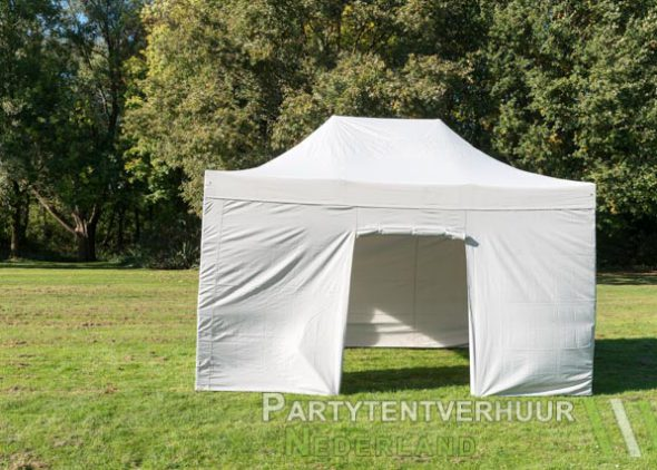 Easy up tent 3x4,5 meter voorkant huren - Partytentverhuur Nederland