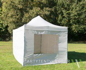 Easy up tent 3x4,5 meter voorkant schuin huren - Partytentverhuur Nederland