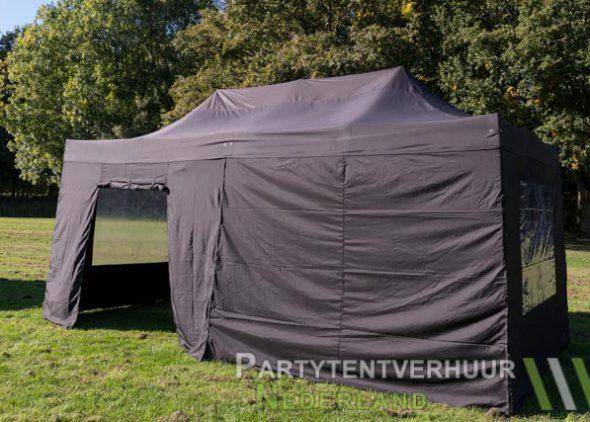 Easy up tent 3x6 meter zijkant met deur huren - Partytentverhuur Nederland
