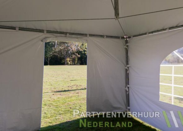 Pagodetent 5x5 (brandwerend) meter binnenkant met deur huren - Partytentverhuur Nederland