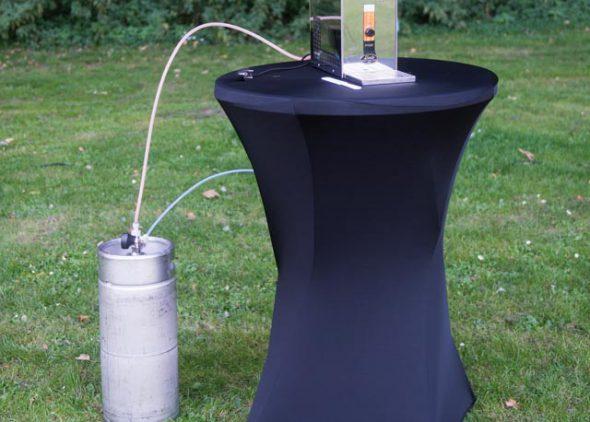 Biertap gemonteerd aan bierfust huren - Partytentverhuur Nederland
