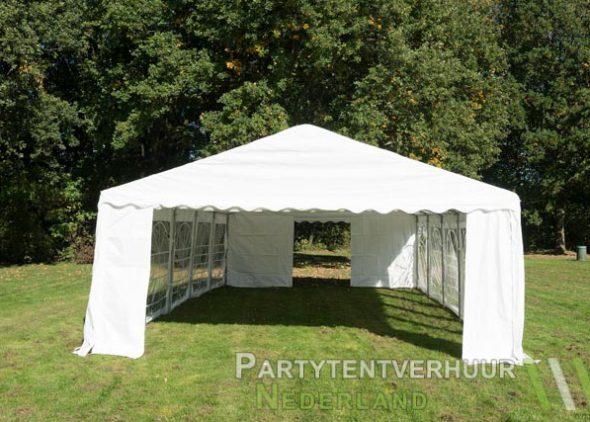 Partytent 5x10 meter voorkant huren - Partytentverhuur Nederland