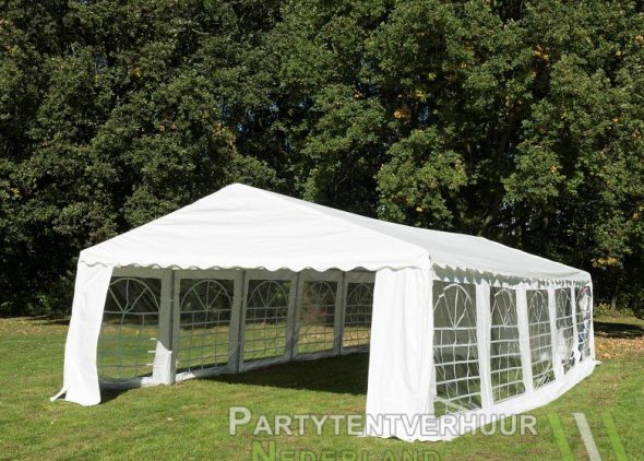 Partytent-5x10-meter-voorkant-schuin-huren-Partytentverhuur-Nederland