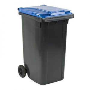 Blauwe mini container huren Nederland