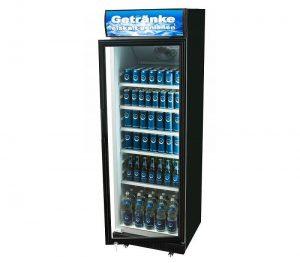 Display koelkast 360 liter zwart huren - Partytentverhuur Nederland