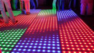 Verlichte pixel dansvloer huren Nederland