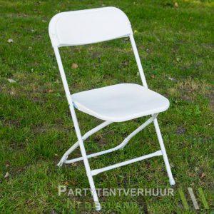 Klapstoel wit huren - Partytentverhuur Nederland