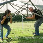 Opzetten Easy up tent