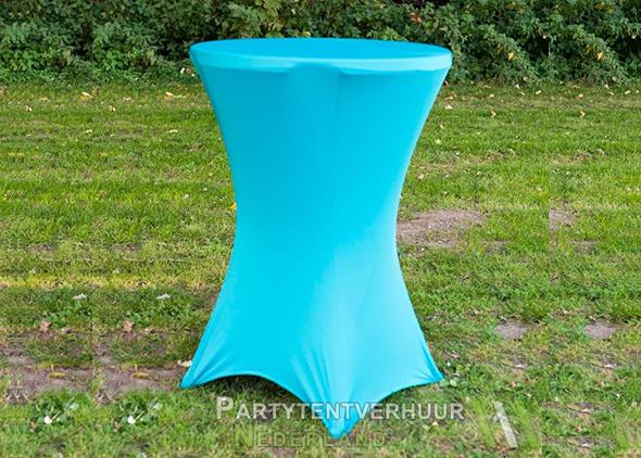 Statafel met rok lichtblauw huren - Partytentverhuur Nederland