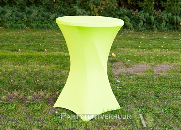 Statafel met rok geel huren - Partytentverhuur Nederland