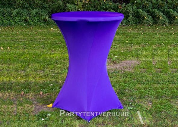 Statafel met rok paars huren - Partytentverhuur Nederland