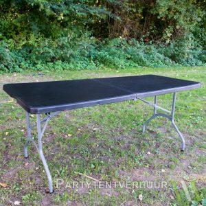Partytafel zwart huren - Partytentverhuur Nederland