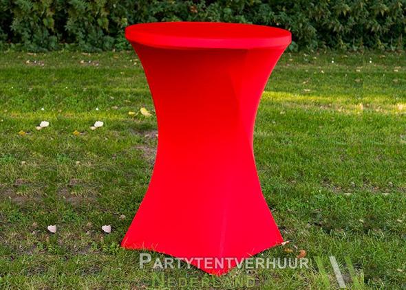 Statafel met rok rood huren - Partytentverhuur Nederland